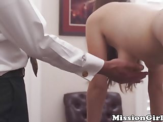 Little Mormon lady masturbates for elders pleasure