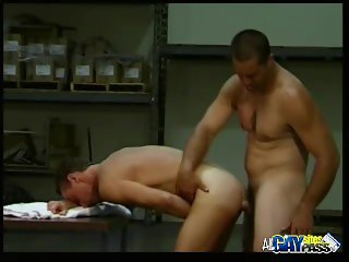 Warehouse Muscled Men Ass Fucking