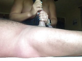 Jerking daddy off