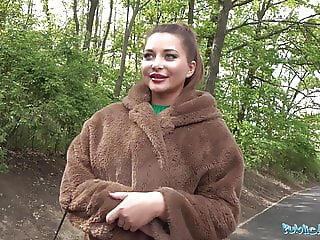 Public Agent Anna Polina gets her perfect boobs out