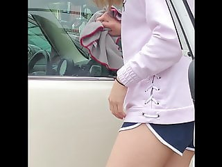Sexy Korean Carwash Booty Cheeks
