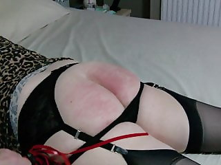 MATURE BBW CROSSDRESSER TVROSE SPANKED