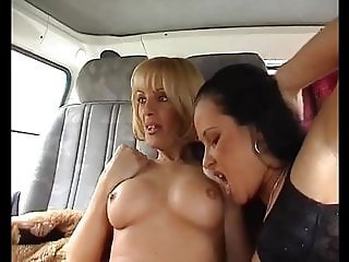 Hungarian Lesbian Orgy in the Bus