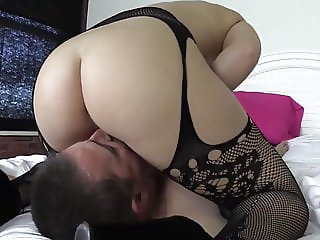 Restrained ass smother and pussy worship