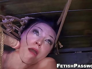Submissive lady destroyed with rough sex and machine fucking