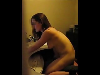 Girl caught masturbating cam to cam