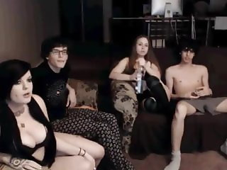 2 Bisexual Couples Cam Show
