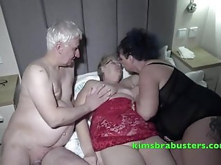 Granny Kim parties with the pensioners next door