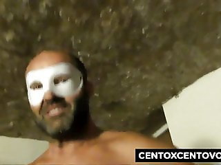 Beautiful blonde masked fucked by Alex Magni