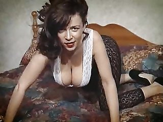 Vintage British big tits striptease hairy beauty