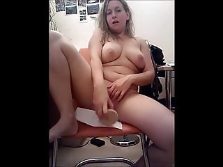 Busty Natascha toying pussy