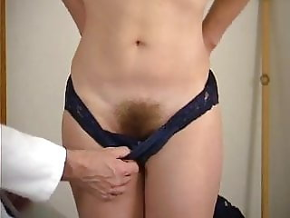 Hairy pussy shaved by the doctor. Punishment and spanking