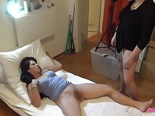 Creampie Surprise For Her German Lesbian Cuckold Lover