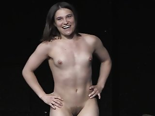 Nora Horvath is approaching with her vagina spread open