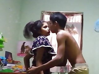Sri lankan young girl and boy fucking at home 1