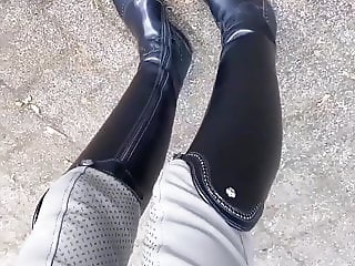 Goddess in riding boots.
