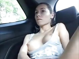 MILF Jilling Off and Squirting In Her Car