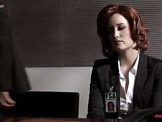 THE X Files  Agent Scully Sloppy blowjob and gets fucked