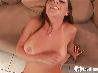 Sensational chick does some sucking and fucking