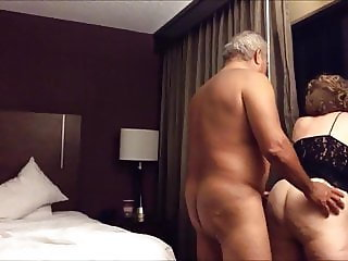 Old big ass wife fucked from behind in the hotel room