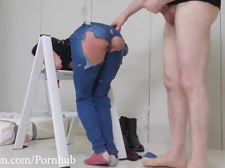 PAWG gets a face fucking with piss before a hard anal pounding