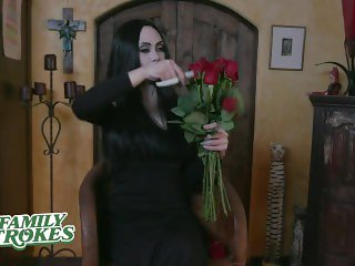 FamilyStrokes - Kinky Goth Family Celebrates Halloween With Group Sex