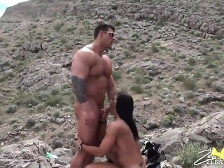 FBB Fucked in the Desert by Male Bodybuilder