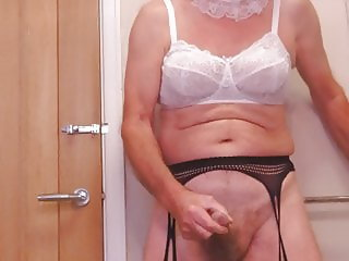 Sissy wank and cum