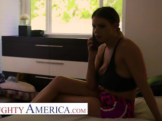 naughty america - brooklyn chase takes big cock to save husbands blow job