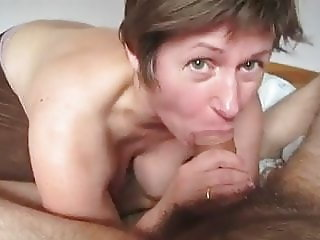 Pregnant cum hungry milf sucks and swallows every drop