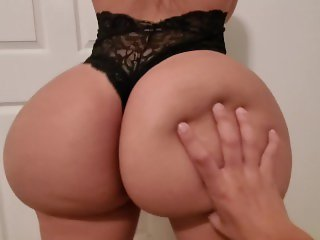 Young couple destroys cock through black panties