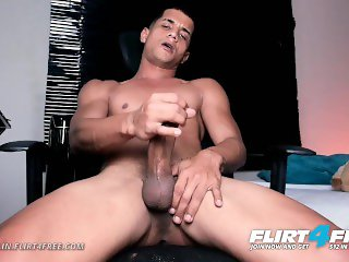 Fran Klin on Flirt4Free - Latino with Monster Cock Spreads His Tight Hole