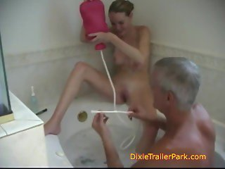Daughters washed by STEPDADDY
