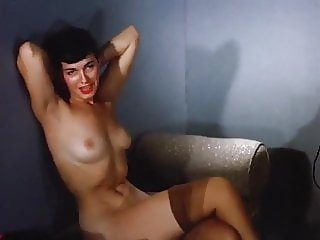 Bettie Page - Sleepy Striptease vintage 1950s stockings