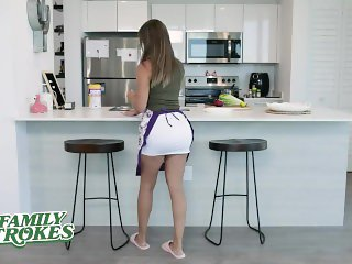 FamilyStrokes - Big Ass Latina Milf Twerks On Her Stepson's Dick