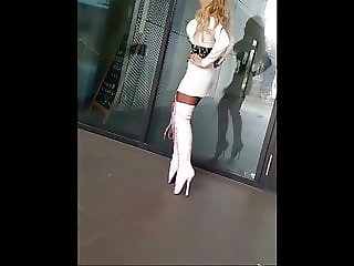 German Girl hot outfits and boots
