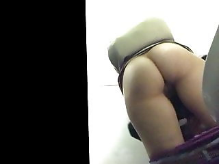 Young Hairy Teen with Awesome Ass Spied on WC - PT