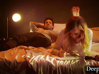 Deeper. Addie Spanked, Choked and Creampied by Small Hands