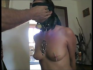Slave is trained to swallow and to have pain