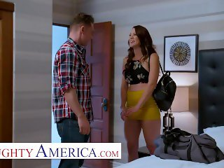 naughty america - audrey miles sneaks a quick fuck with her friends husband