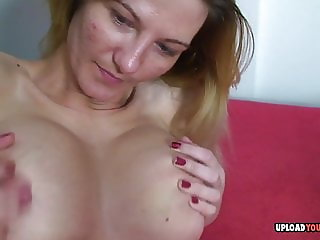 Vanessa massages her cunt with a dildo
