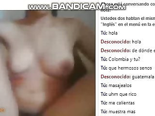 Girl from Guatemala masturbates and plays with me on Videoch