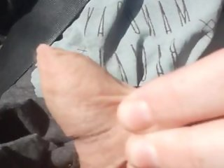 solo male public moaning masturbation driving part2