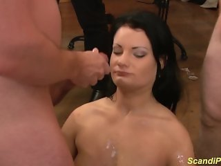 her first public anal gangbang