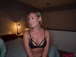 Addison's elderly husband invites a young stud to fuck her