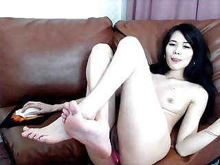 vibrate this asian pussy and asshole until she cum