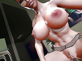 SFM VR 3D Mistress uses leech to make you cum again  twice (