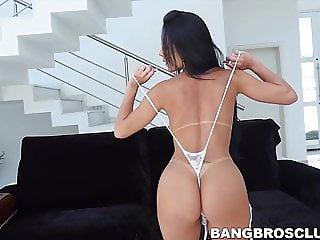 Sensual Analine has her ass and pussy fucked by two guys