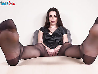 Italian Domme boots and black pantyhose humiliation