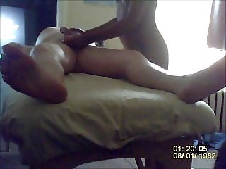 Massage turns into a BJ with a swallow